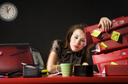 Woman-Tired-At-Desk
